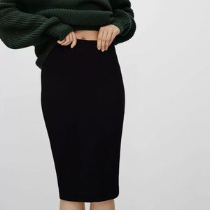 Wilfred Lis Black Pencil Skirt